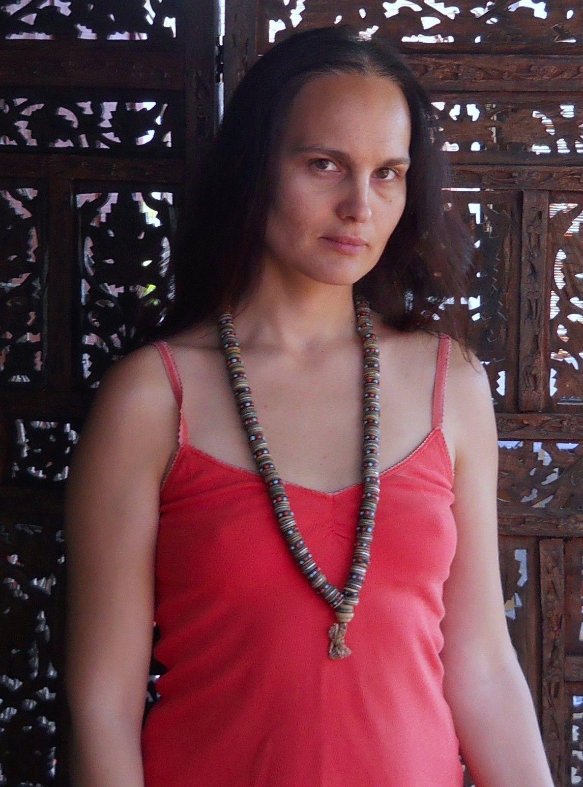 Tibetan Buddhist Yak Bone Coral & Turquoise Inlaid Healing Mala Meditation Beads