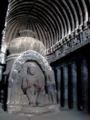 2000 YEAR OLD BUDDHIST MONESTARY CAVE ELLORA INDIA