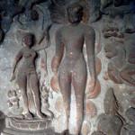 ANCIENT ELLORA CAVE BUDDHA IMAGE
