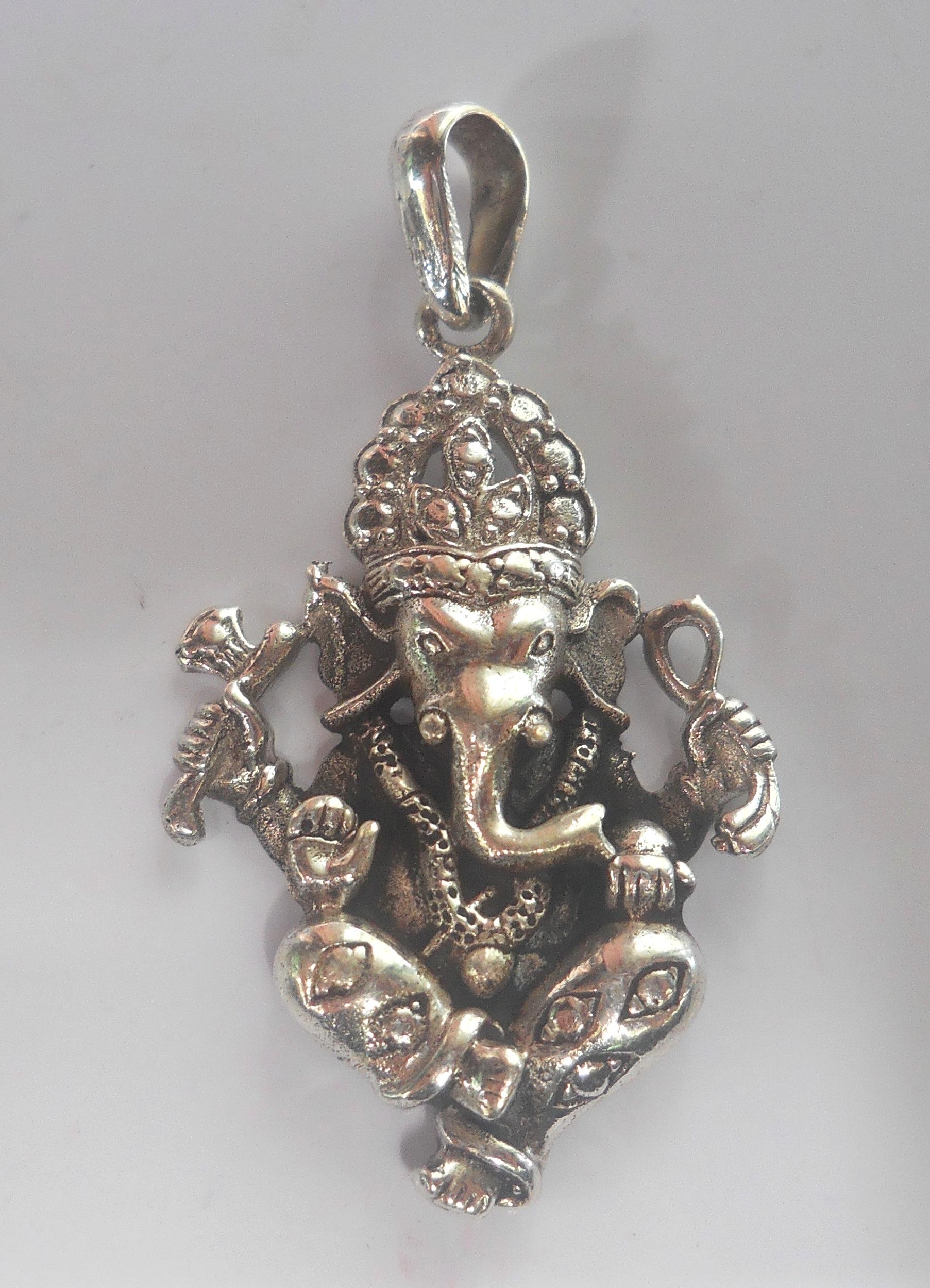0fa9a5d7c Stunningly Beautiful Sterling Silver Hindu Deity Ganesh Pendant | The  Himalayan Traders