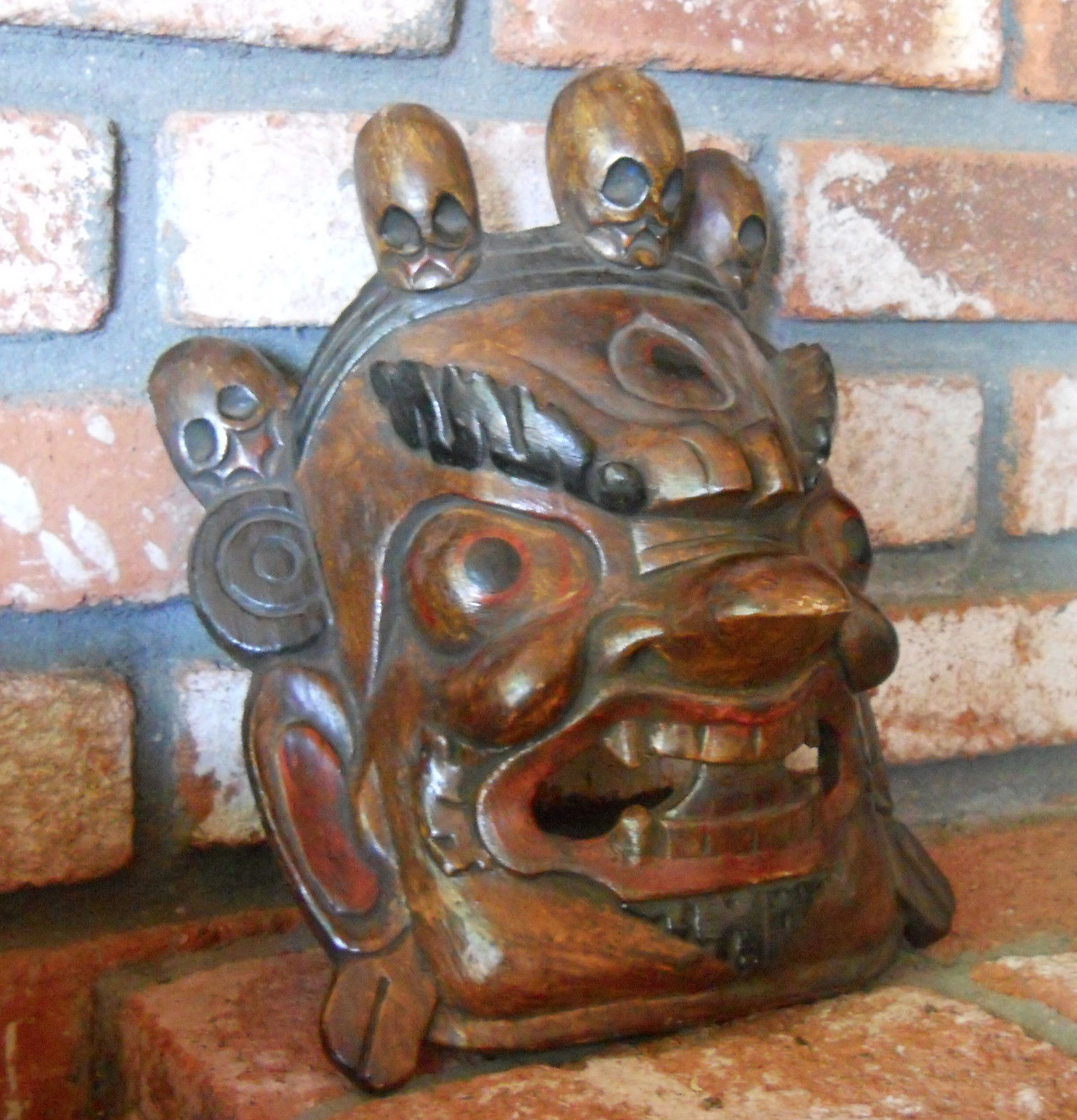 Hand Carved Tibetan Ritual Masks