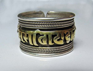 SILVER & GOLD MANTRA RING