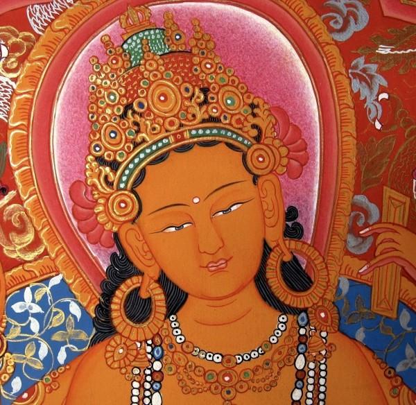 VASUDHARA TIBETAN PROSPERITY DEITY BUDDHIST TANGKA THANGKA PAINTING 4