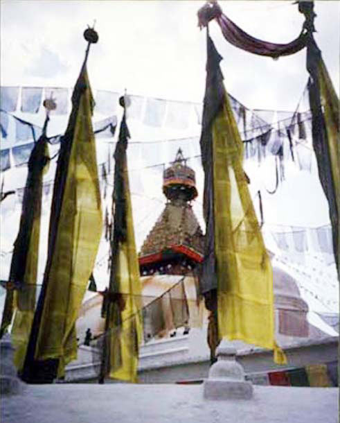 BODHNATH STUPA PRAYER FLAGS