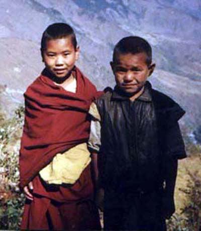BOY TIBETAN MONK LANGTANG TREK TO TIBET