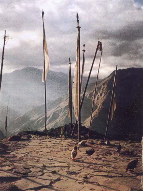 TIBETAN PRAYER FLAGS at HIMALAYAN SHRINE