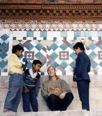 LAMA DORJE with TEMPLE KIDS