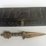 Tibetan Phurba Dagger in Wood Box
