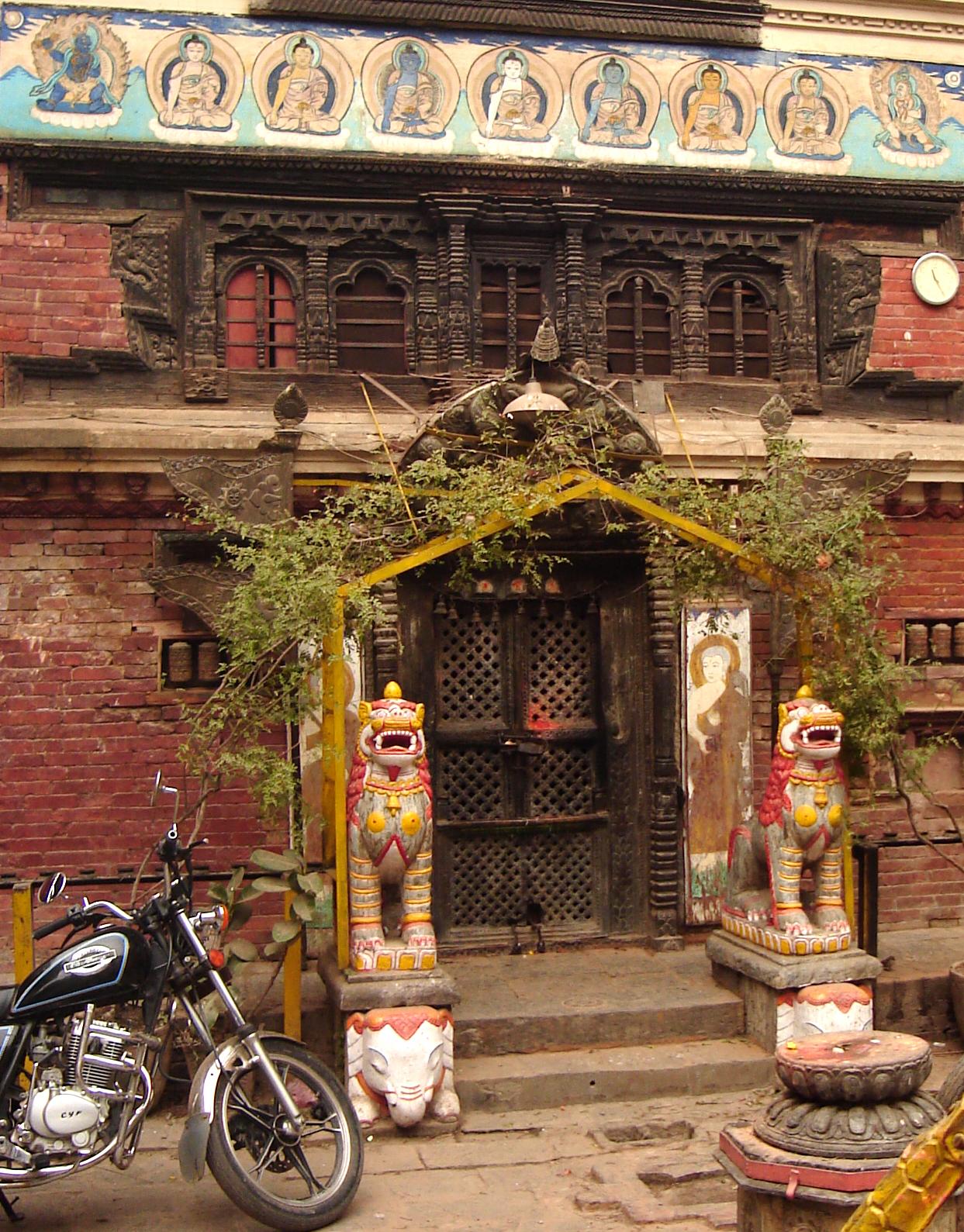 OLD TIBETAN BUDDHIST TEMPLE KATHMANDU NEPAL
