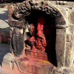 ANCIENT GANESH STATUE IN DURBAR SQUARE