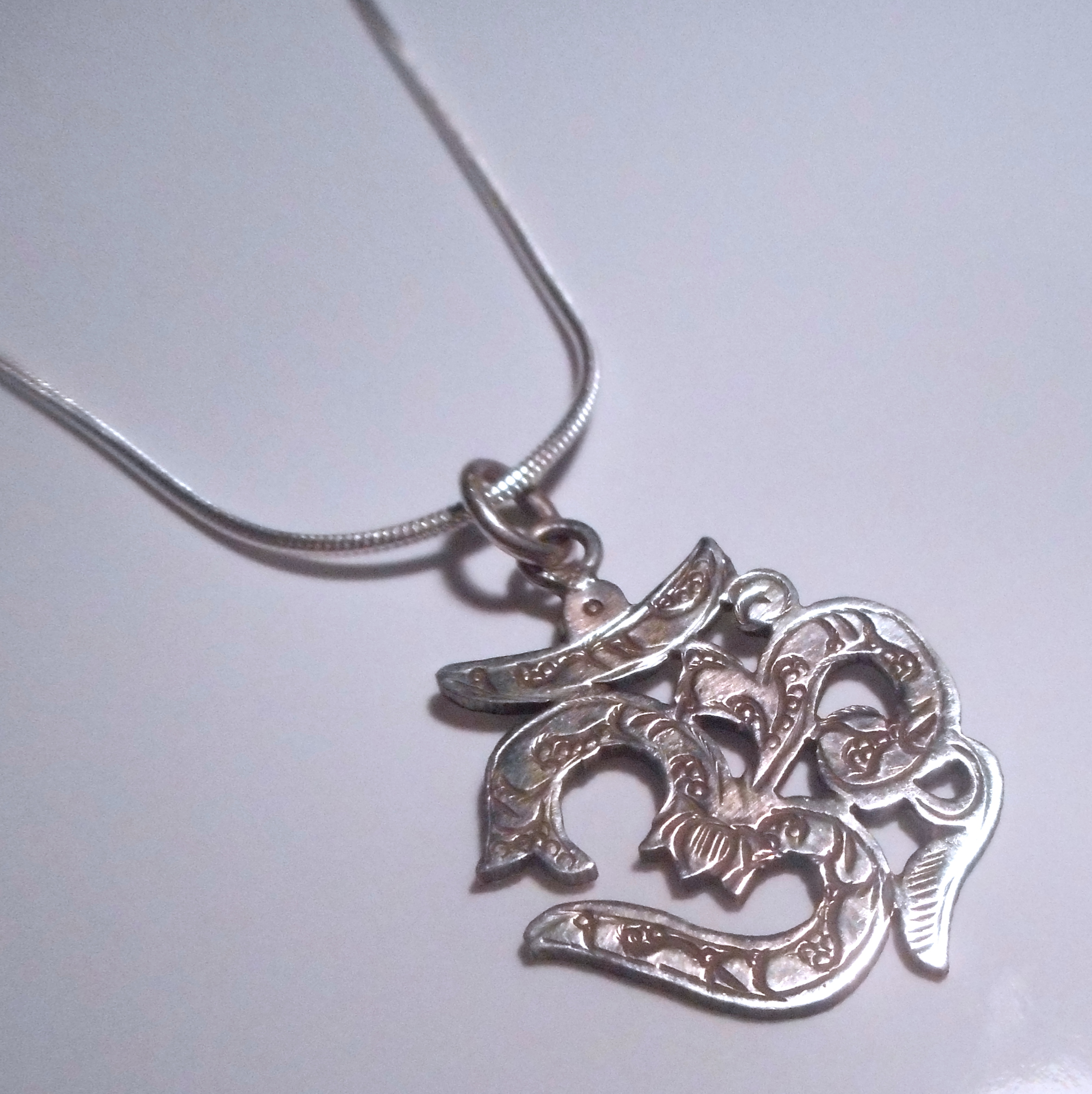 silver necklace image products photo simple jewelry etched treasure