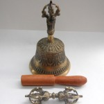 "Medium 6.5"" Tibetan Bell & Dorje"