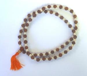 Tibetan Rudraksha Pearl Mala Bead Necklace