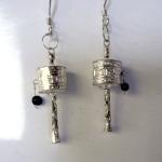 Prayer Wheel Earrings